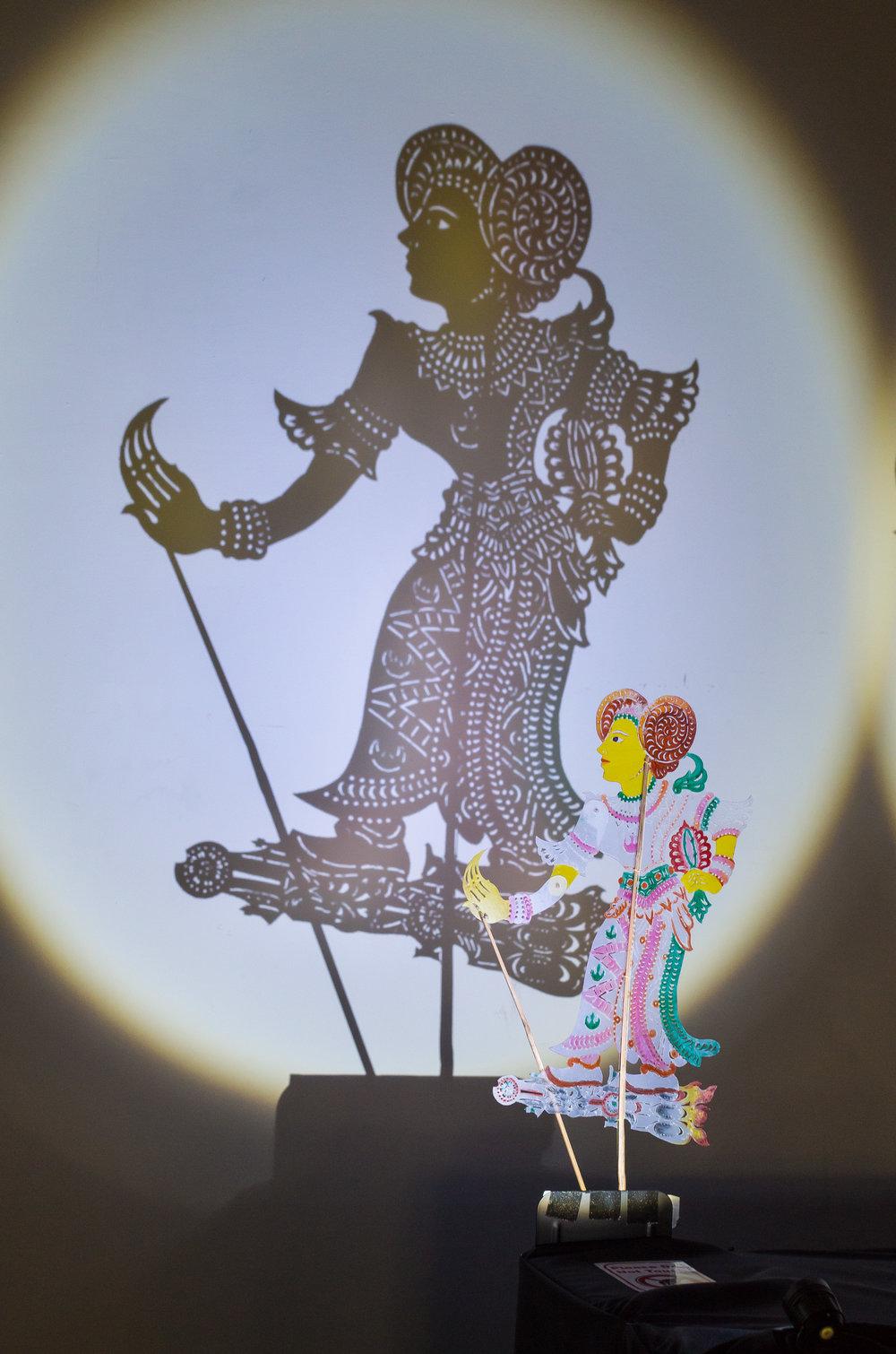 Wayang kulit puppet of Princess Leia. (Photo by Teh Take Huat.)