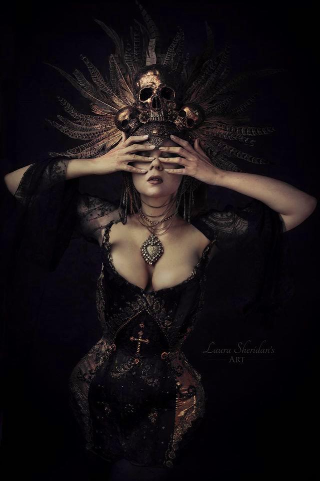 Aurea Angelus Corset  Photographer: Sheridans Art  Model: Margot  Headdress: Hysteria Machine  Necklace: Madonna Enchanted