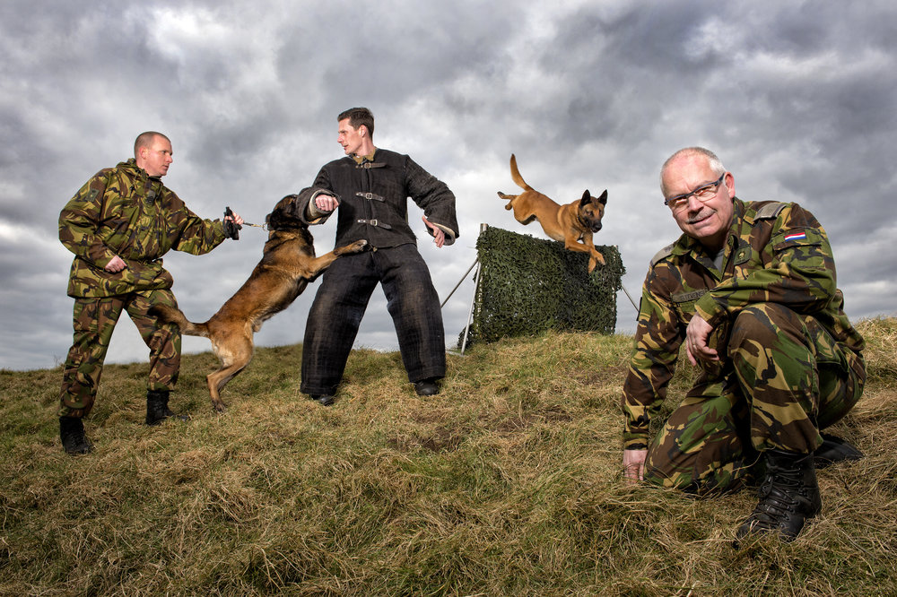 Dog trainer of the Dutch Army