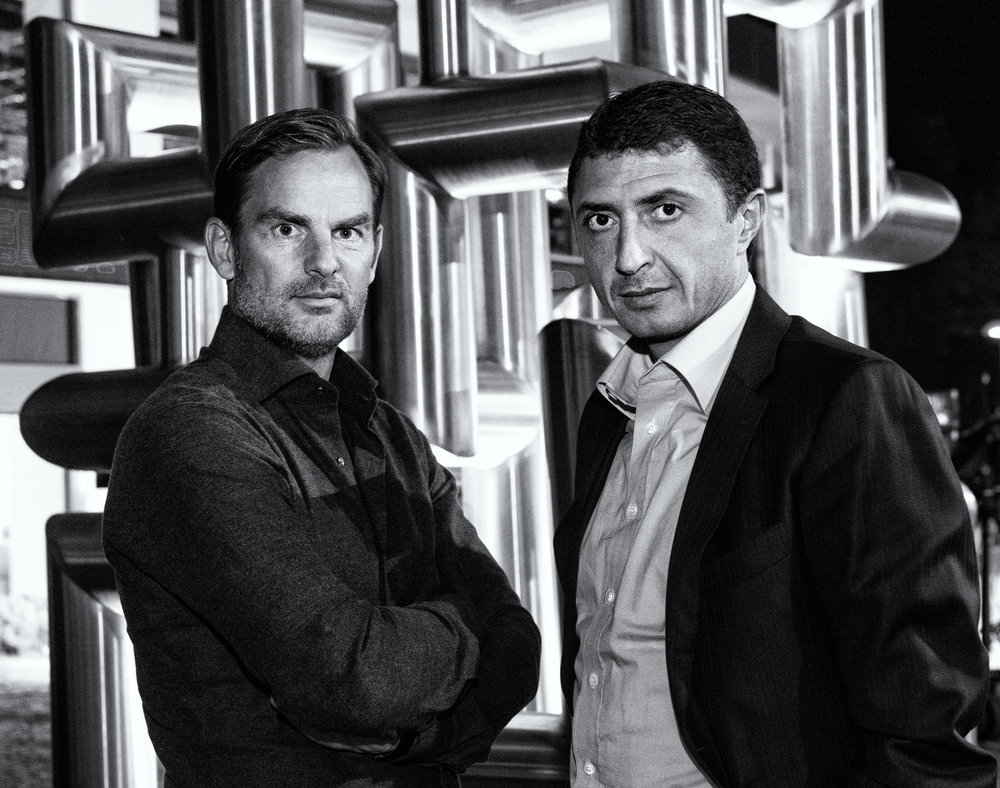 Ronald de Boer and Shota Arveladze in Istanbul for LXRY-magazine