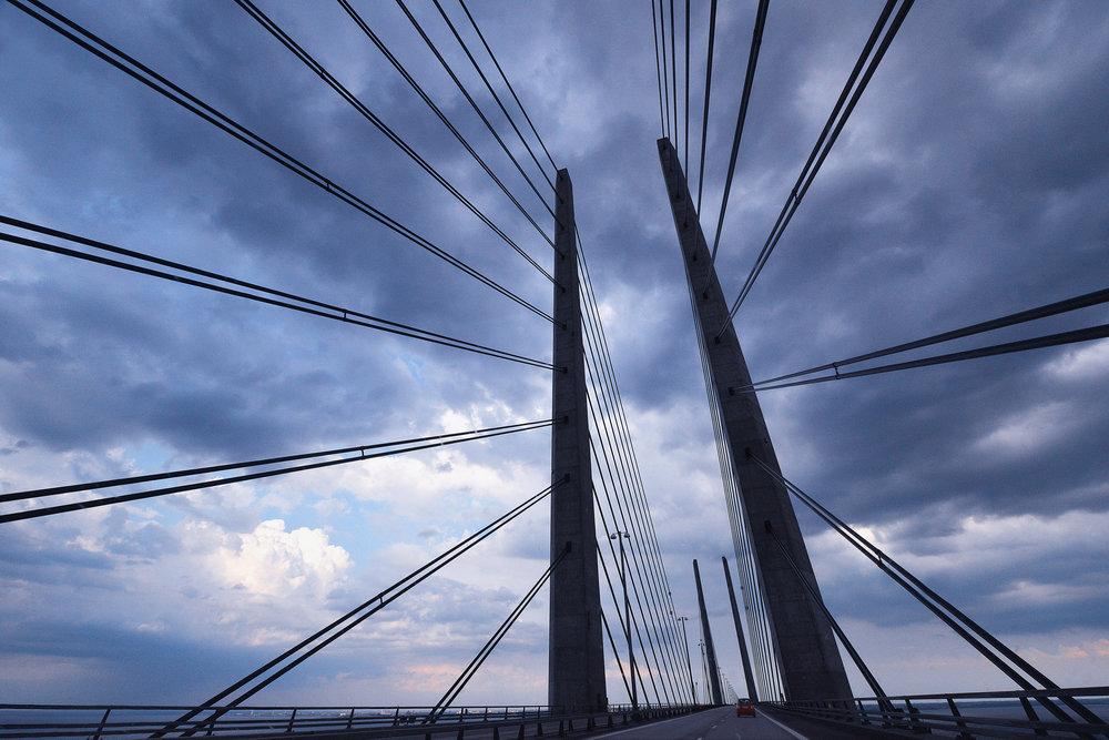The Sont-bridge between Kopenhagen-Denmark and Malmö-Sweden for ANWB Reiz& magazine