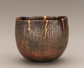 Tea bowl in the style of Koetsu, unknown Raku ware workshop