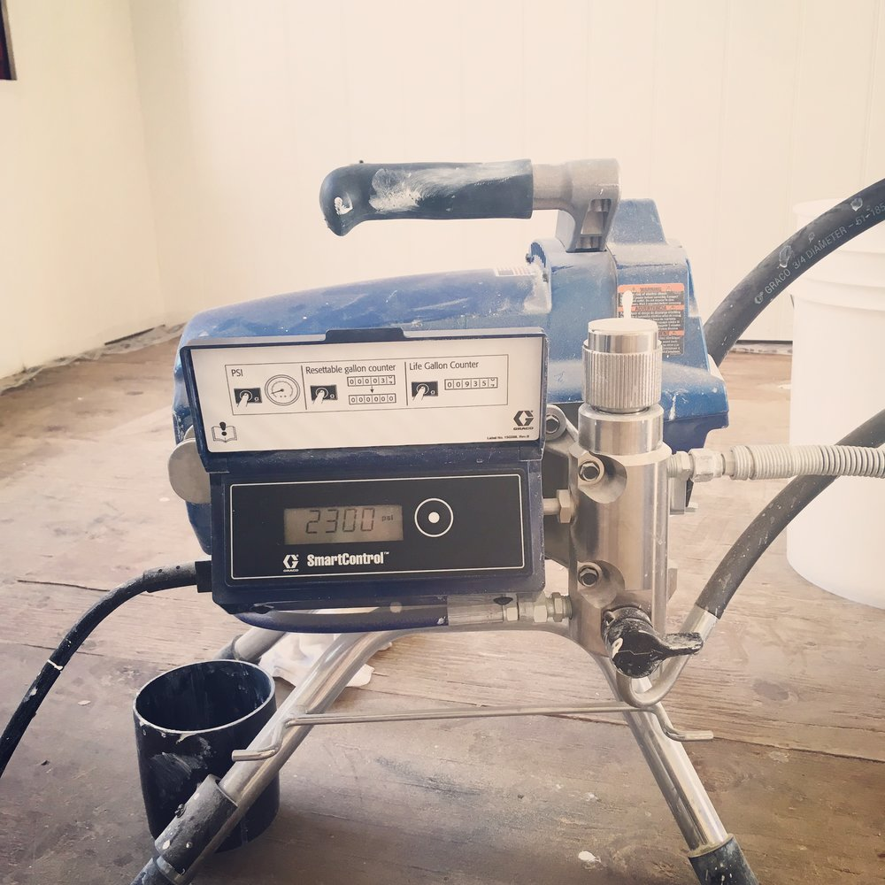 Using Graco Sprayers we can control psi of all products and finishes.
