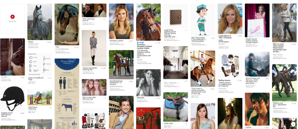 My pinterest board for my masters dissertation. It may or may not be about horses.