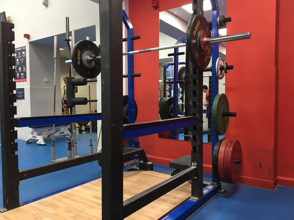 The power rack before my squat set