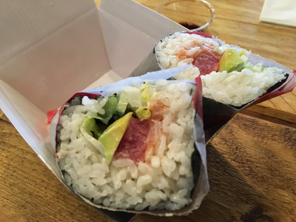 A sushi burrito (not saying this is a good source of protein but just look at it!)