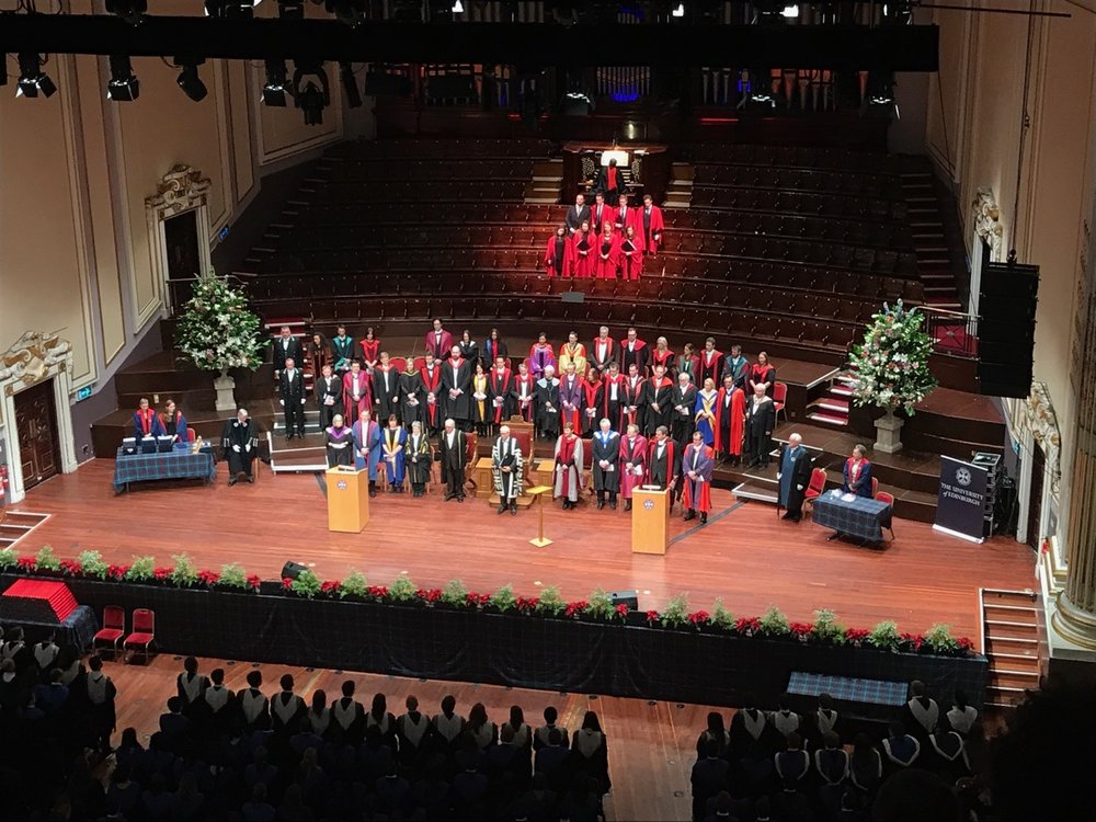 the graduation stage