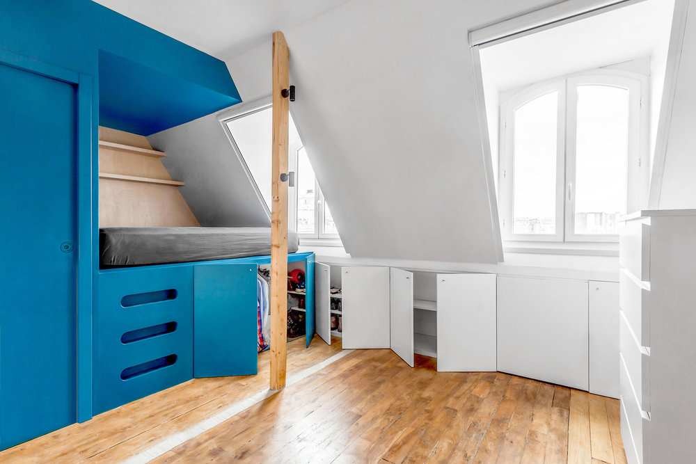 Inée_Architectes_Rénovation_Studio_Paris - © www.bam.archi
