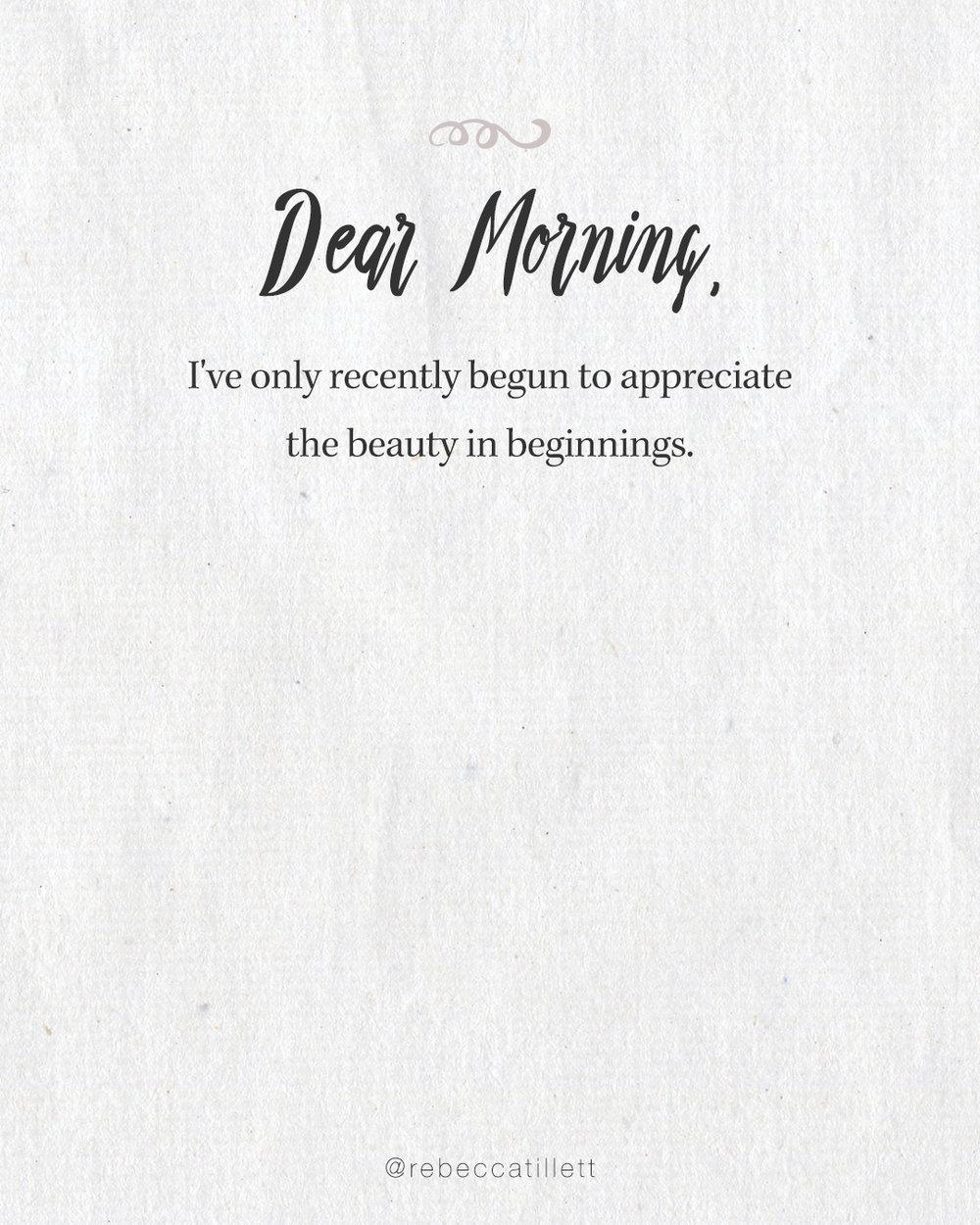 Dear Morning