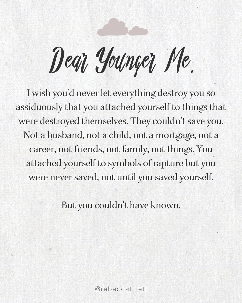 Dear Younger Me