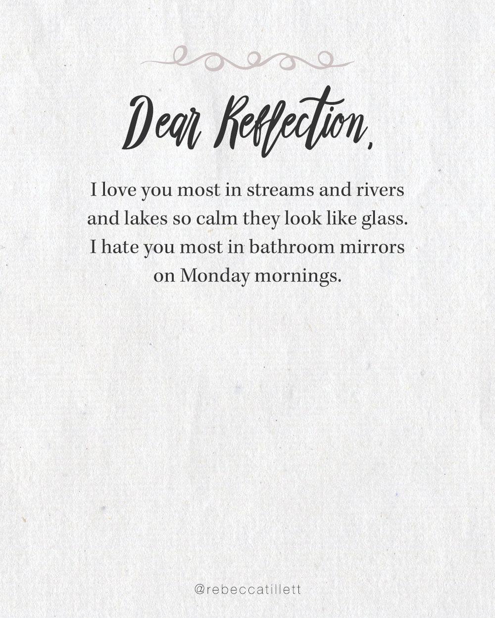 Dear Reflection