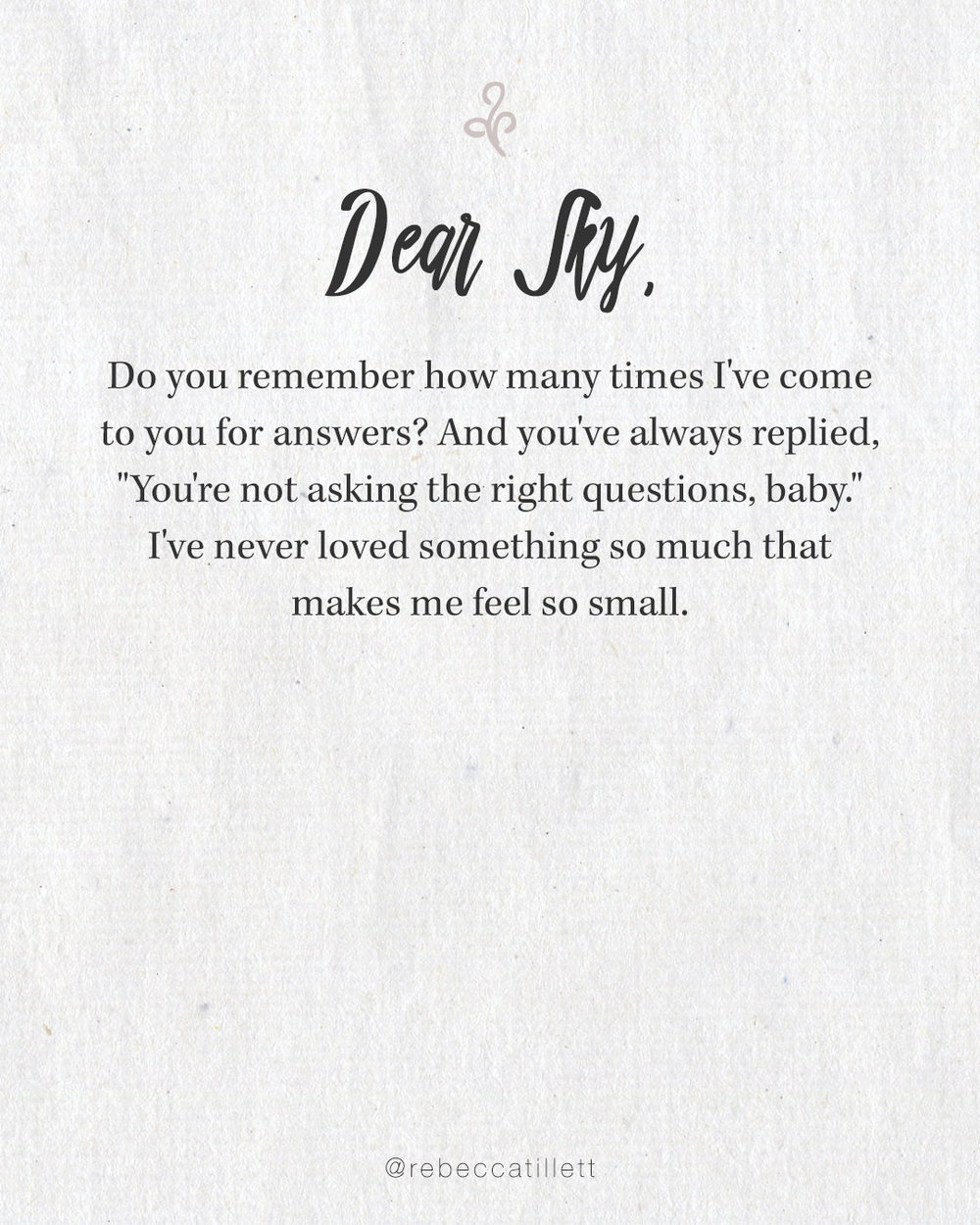 Dear Sky