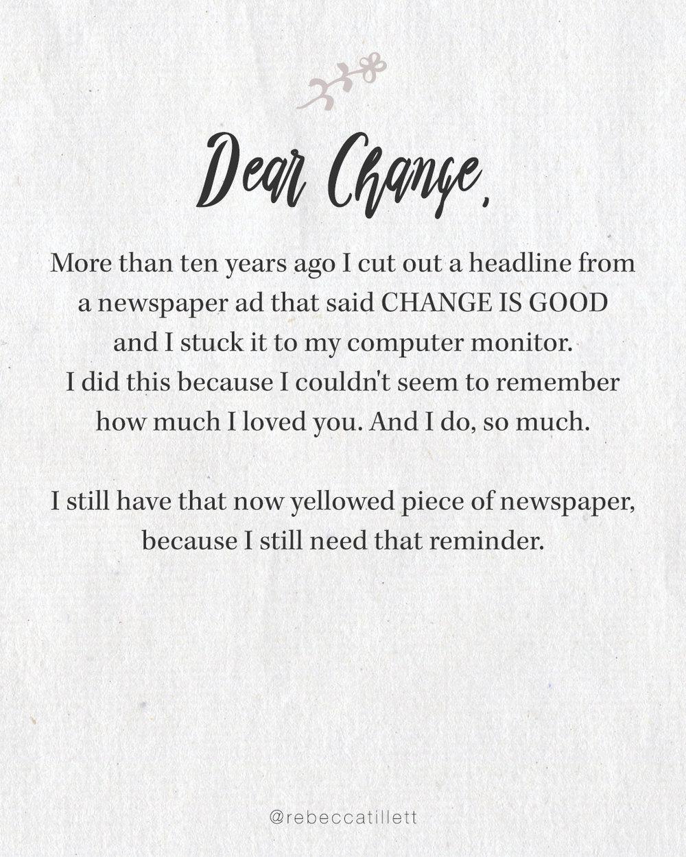 Dear Change