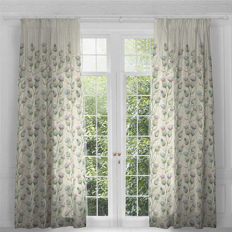 Voyage Thistle Glen Pair Of Ready Made Curtains Panels