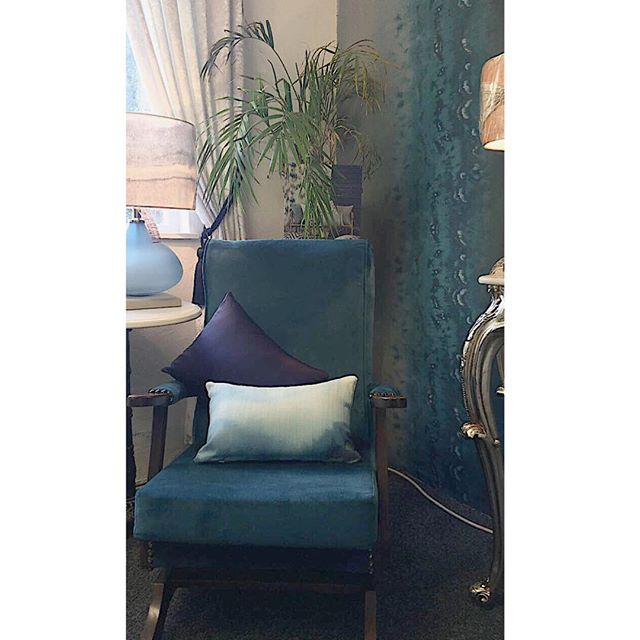 lovely revamp on a customers chair, the finishing touch to her new bedroom💙✨ #reupholstery #teal #happycustomers