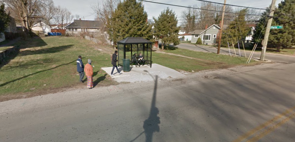 Missing Sidewalk on North Limestone and Paris Ave.courtesy: Google Maps