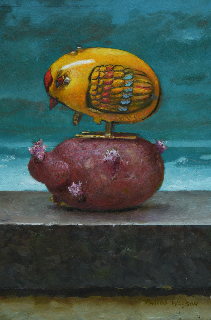 """POTATO CHICK"" Oil 6 x 4"