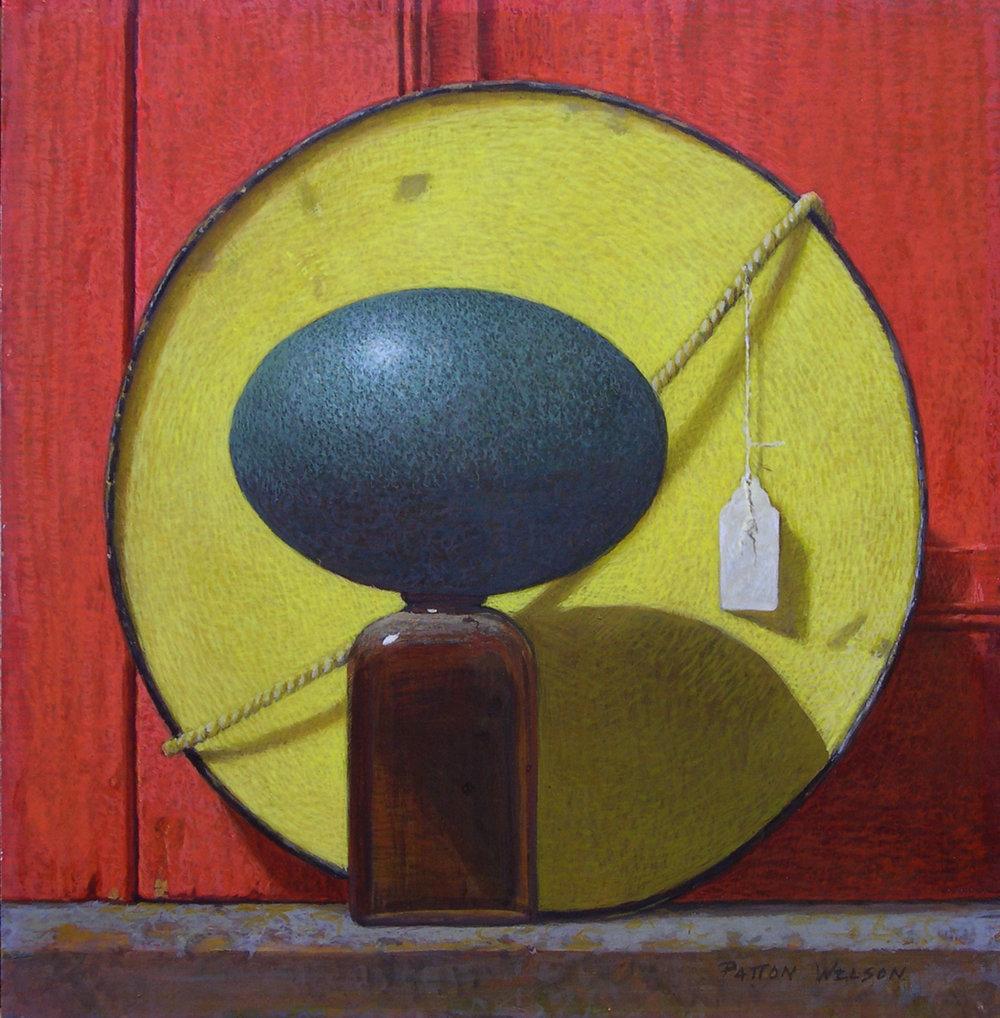 """OVUM"" Egg Tempera 12.75 x 12.75"
