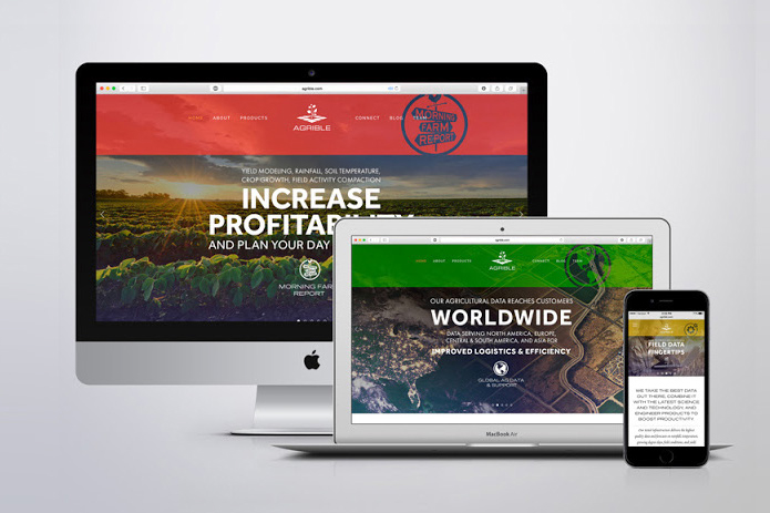 Agrible , Initial Website (Squarespace) 2013-14