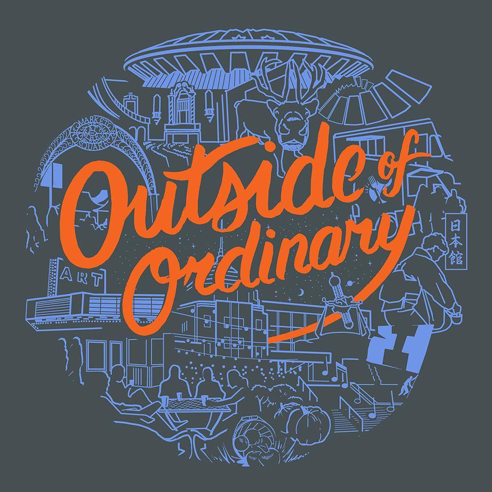 2-color t-shirt design for Visit Champaign County