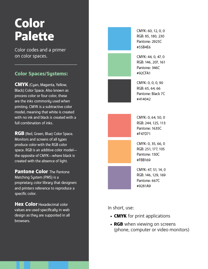 Excerpt of brand guidelines (page 5)