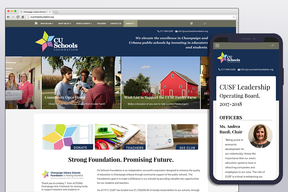 CU Schools Foundation  (Wordpress) 2012-Present