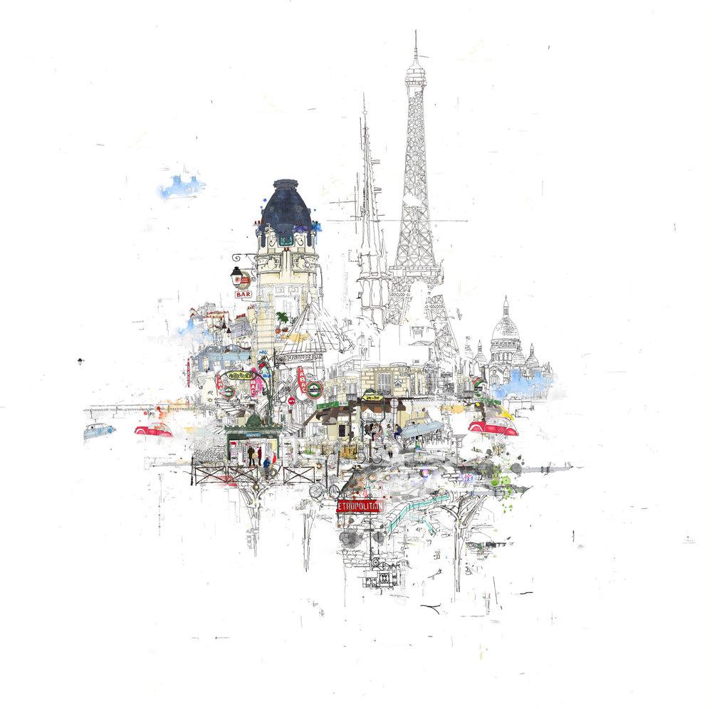 Notre Dame Line and Colour 2015