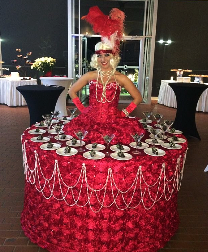 Flapper Strolling Dessert Table