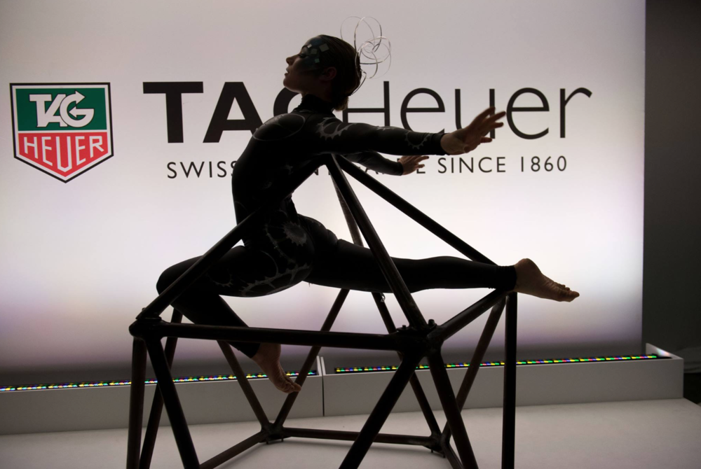 Tag Heuer MOMA contortionist on icosahedron.png