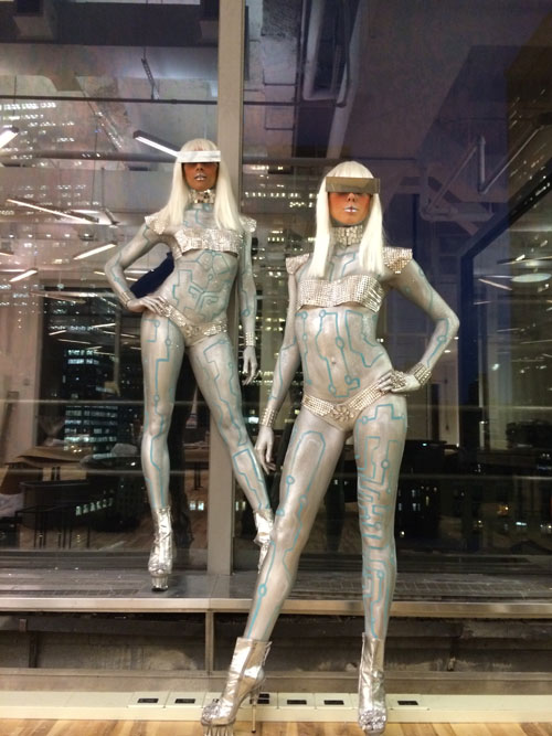 body painted cyber gaga robot models.jpg