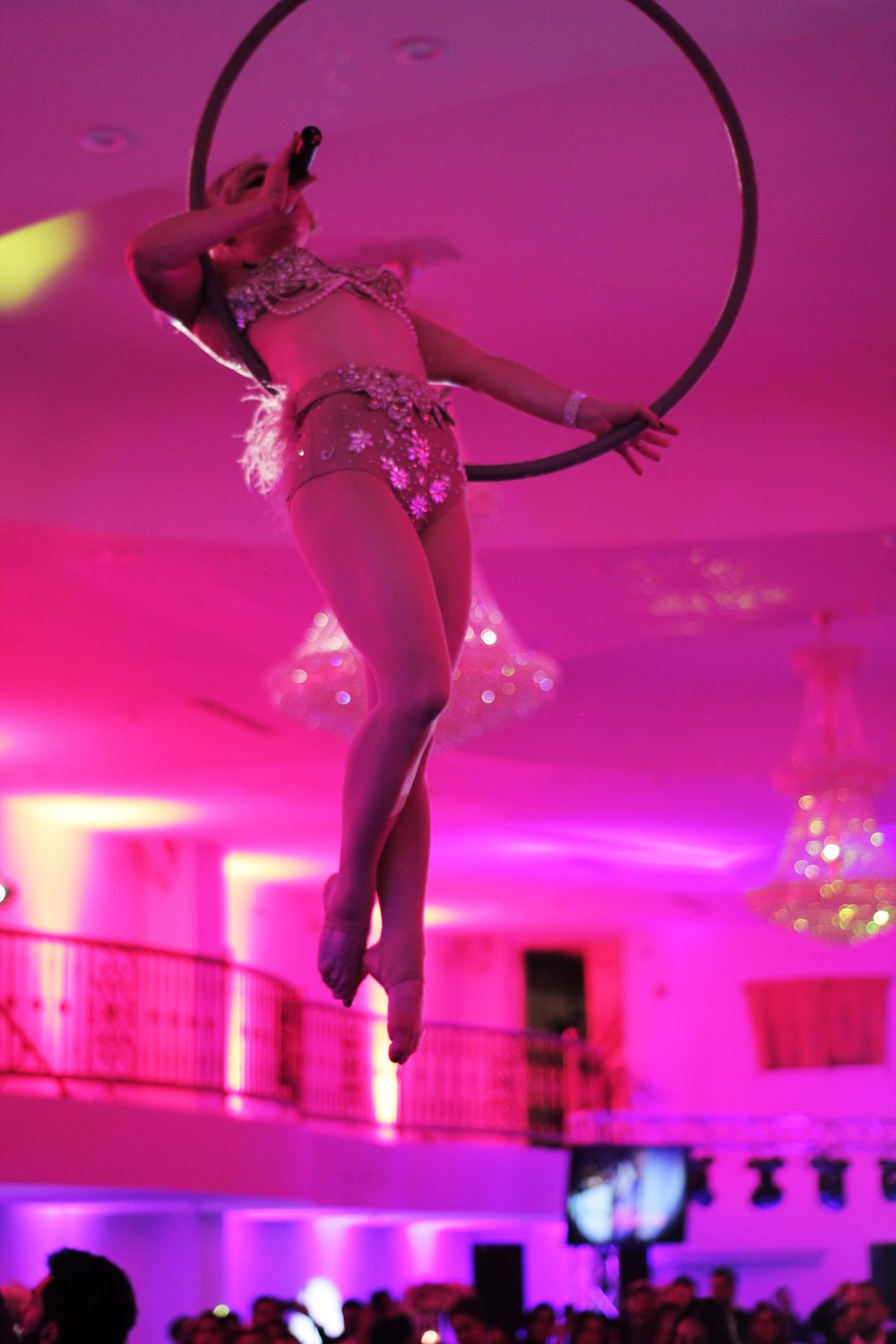 Aerial Vocalist for Couples Grand Entrance