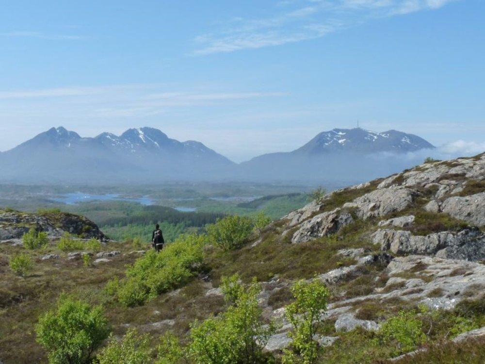 5. Igerøyfjellet  (102 moh) Vanskelighetsgrad: Middels Tid: ca. 1 1/2 t t/r. Startsted: Parkering ved trafostasjon på Bø. Første del av lypa følger jordbruksei.