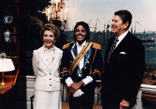 ronald reagan michael jackson