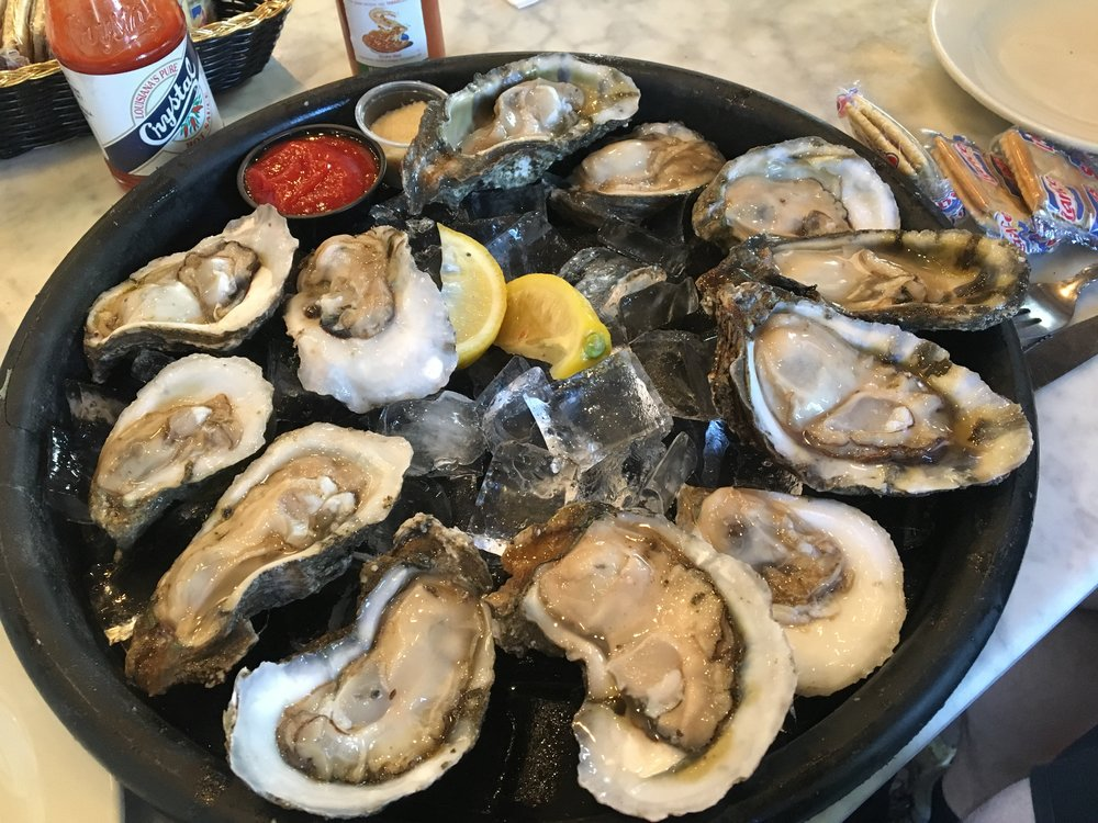 Delicious oysters! Freshly shucked right in front of us.