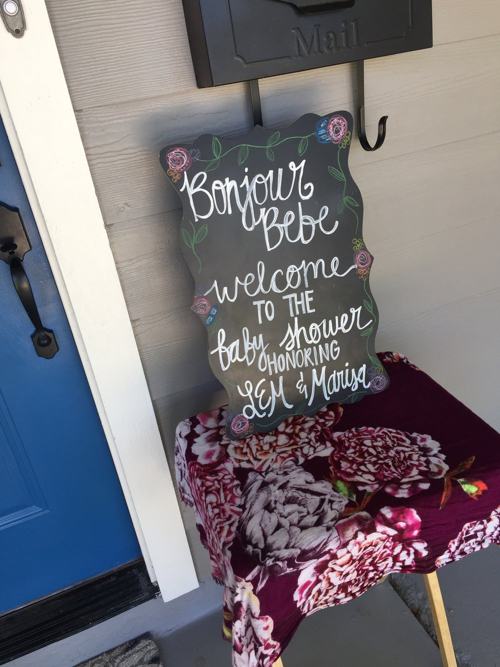 My sister-in-law, Meredith, has such talent for beautiful chalkboard signs!