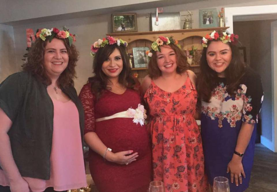 My sister-in-law, friend from McAllen and bestie! The flower crowns are so much fun to wear.
