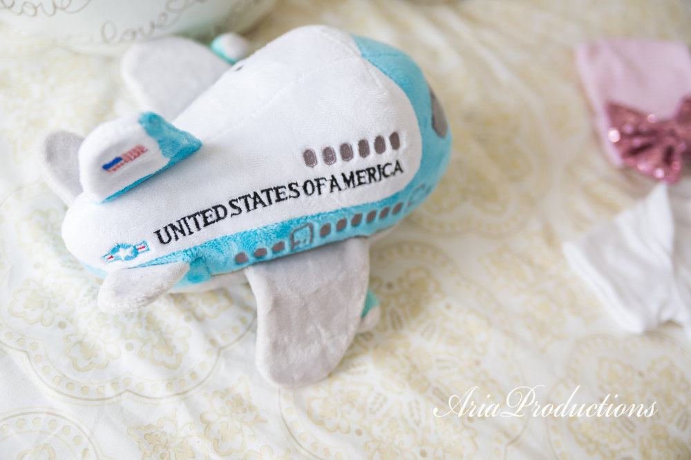 TJ brought Baby Marisa this adorable plush Air Force One home on his last trip to DC.