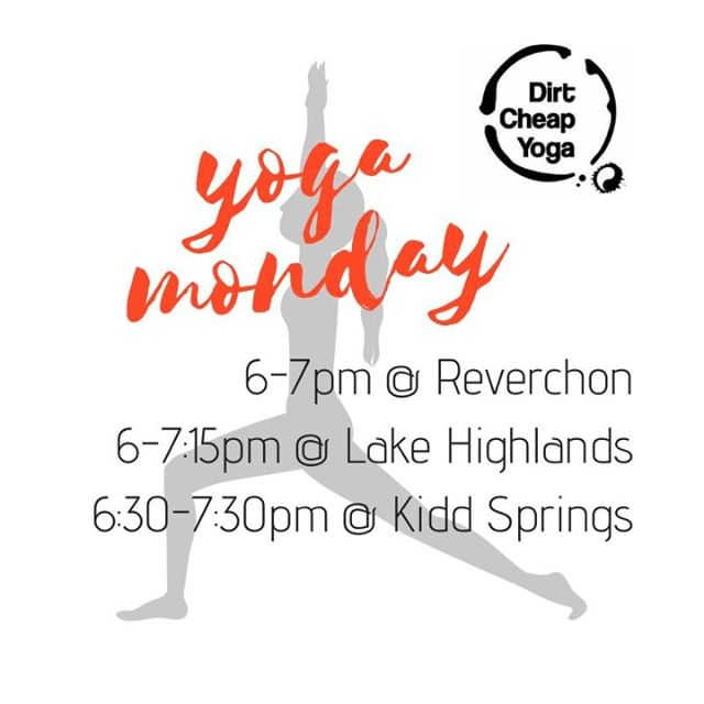 Unwind your Monday with us!  #dirtcheap #mondayyoga