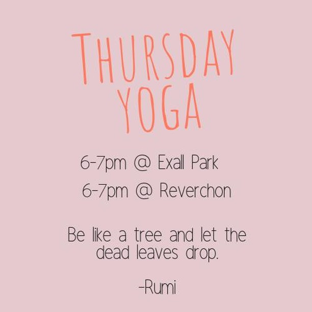Join Chandler at Exall Park and Claudia at Reverchon! First class is FREE!