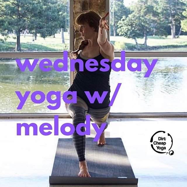 Come to class! 6:30pm with Melody! #oakcliff #yoga #kiddspringspark