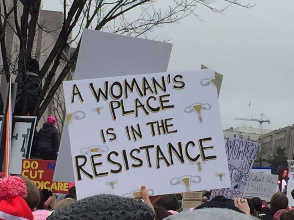 Women's March, Washington DC 2017 - 1 million people descended on Washington DC to protest the inauguration of #45, creating an indelible imprint of The Resistance, led by coalitions of women, families and kindreds.