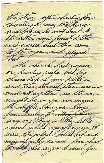 Hand written letter - page 4