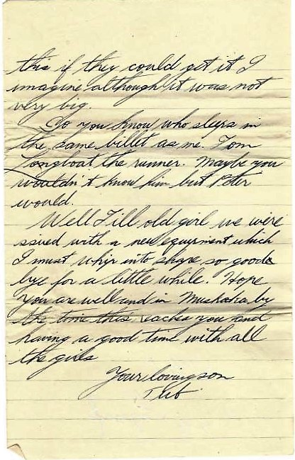 Hand written letter - page 5