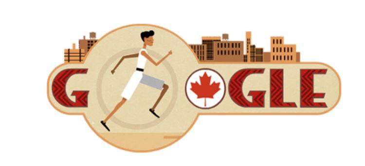 Google header logo of runner Tom Longboat