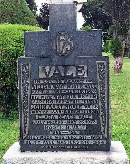 Vale headstone - Mt Hope Cemetery.jpg