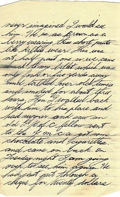 Basil Vale July 7 1918 letter - page 2.JPG