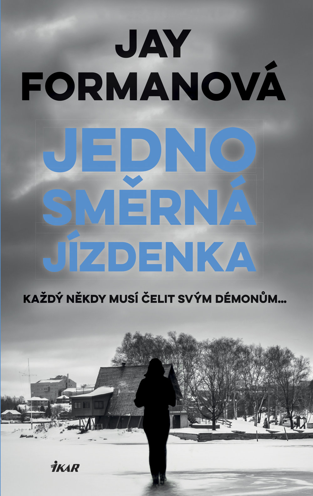 "Cover image for ""One Way Ticket"" - Czech edition - From the Lee Smith Mystery series by Jay Forman."