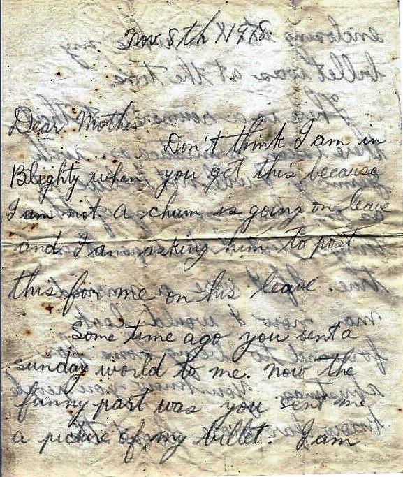 Basil Vale Nov. 8, 1918 letter - page 1.JPG