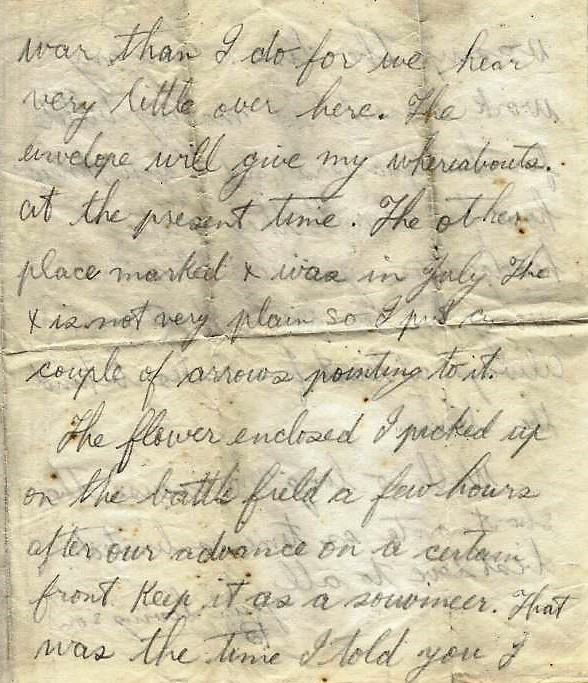 3rd page of letter