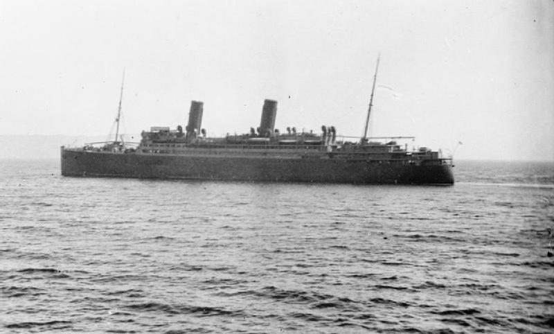 HMS Calgarian (Torpedoed by U-boat U-19 and sunk March 1, 1918.)